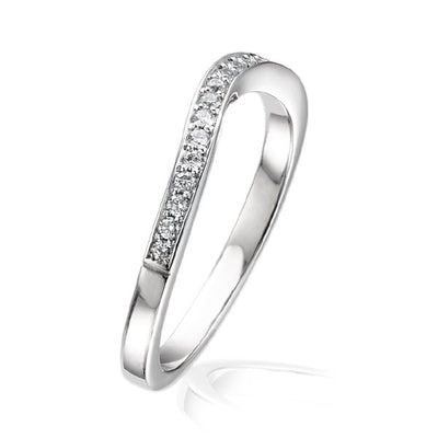 """Dainty"" Curved Half Eternity Ring"