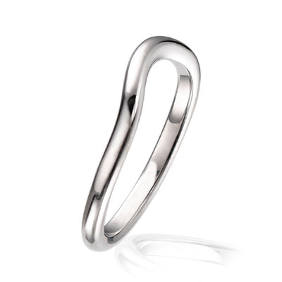 """Dainty"" Deep Curved Wedding Ring"