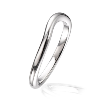 """Dainty"" Curved Wedding Ring"