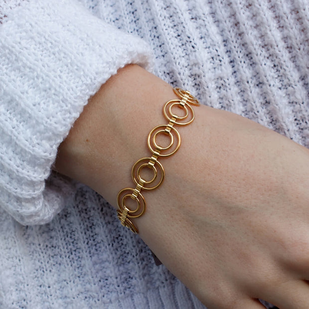 Catena Gold Wide Bracelet