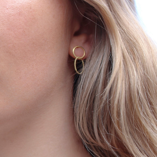 Small Single Loop Drop Earrings