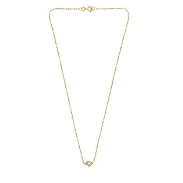 EC One Ellie Air Feather Yellow Gold Diamond Choker