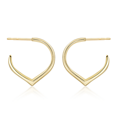 Gold Pointed Hoop Earrings