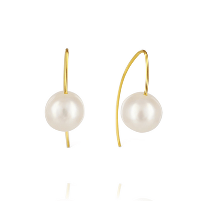 EC One Melissa McArthur Freshwater White Pearl Drop Earrings