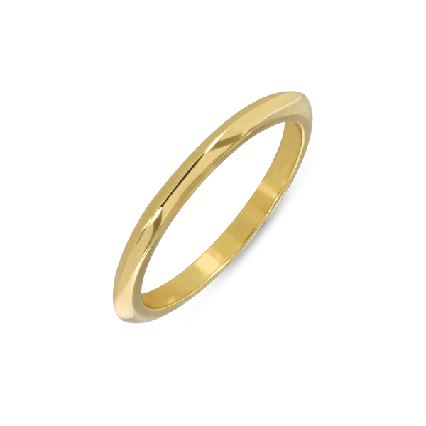 EC One recycled Gold Knife Edge Wedding Ring band