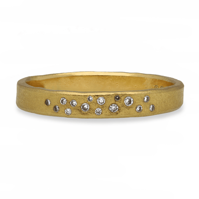 Diamond Wave Ring Yellow Gold