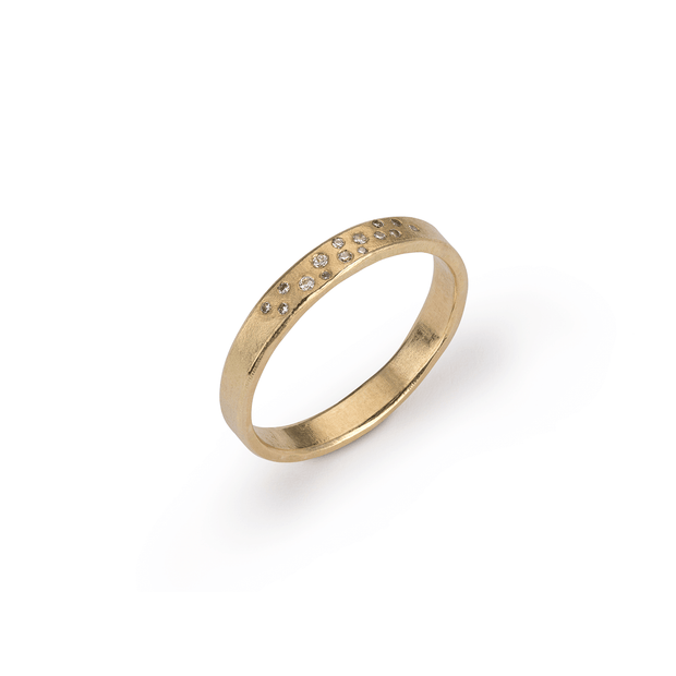 EC One Hannah Bedford recycled gold Diamond Wave Ring