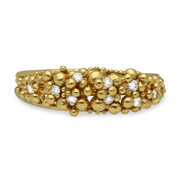 Scattered Granule Ring Yellow Gold