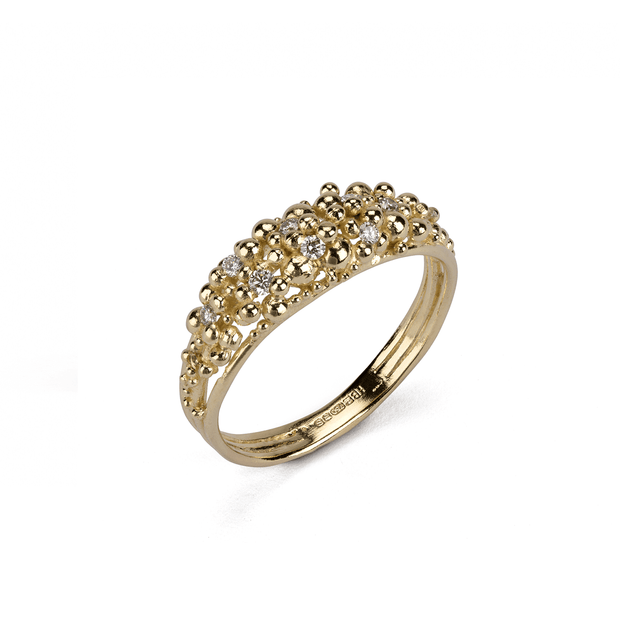EC One Hannah Bedford recycled gold Scattered Granule Ring