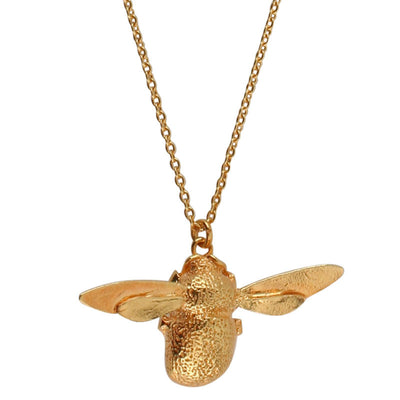 EC One Alex Monroe Large Bumblebee Gold Necklace