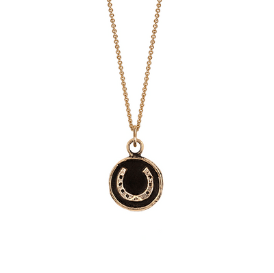 Horseshoe 14ct Yellow Gold Talisman Necklace