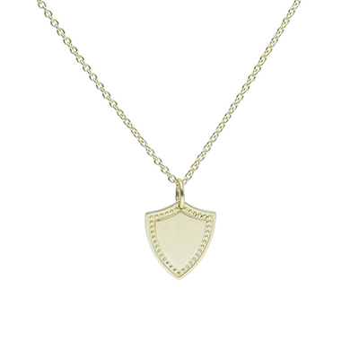 Shield Gold Pendant