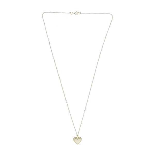 EC One Heart recycled Gold Pendant engrave