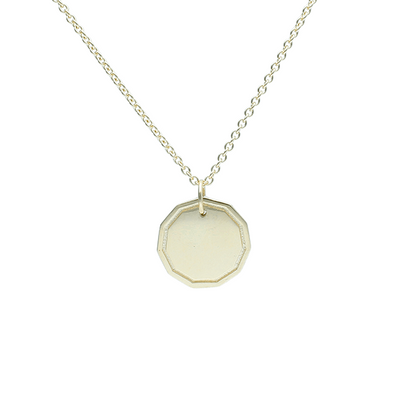 "EC One Recycled Gold ""Coin"" Pendant engrave"