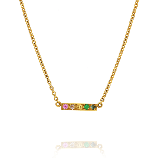 "Mini ""Kaleidoscope"" Gold Bar Necklace"