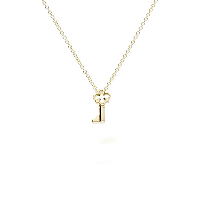 EC One Recycled Gold Key Charm pendant necklace
