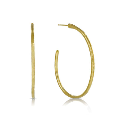 EC One 'Beat' Large Gold Hoop Earrings