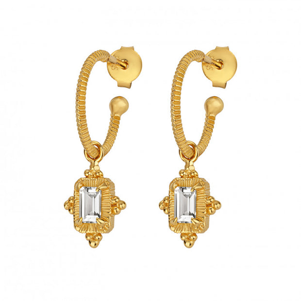 Zoe and Morgan Marina Gold Plated Drop Earrings