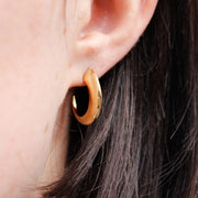 Medium Gold Plated Cat Claw Stud Earrings