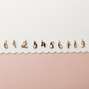 "EC One recycled Gold ""1""  charm number charms"