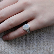 Oval Silver Signet Ring