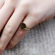 Shield Gold Signet Ring