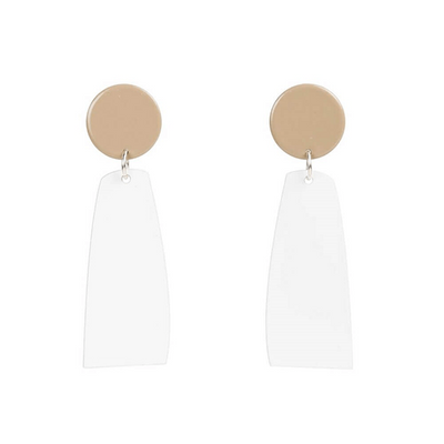 Rectangular 'Miles' Drop Earrings