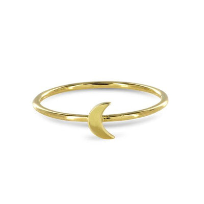 EC One Moon 18ct recycled Gold Stacking Ring