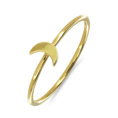 Moon 18ct Gold Stacking Ring