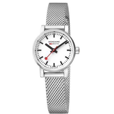 Evo Watch 26mm Case White dial Stainless Steel Mesh strap