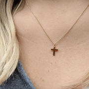 Small Gold Cross Pendant