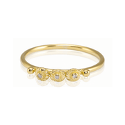 Jules Three Diamond Gold Ring