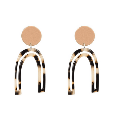 'Otis Outline'  Acetate Drop Earrings