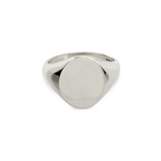 EC One Oval recycled Silver Signet Ring