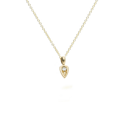 "Diamond set Gold ""Leaf"" Necklace"