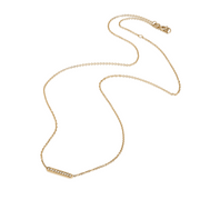 EC One Ellie Air Pinnate Yellow Gold Diamond Necklace