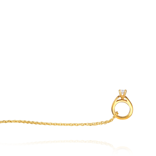 EC One Mini recycled Gold Diamond Ring Diamond Necklace