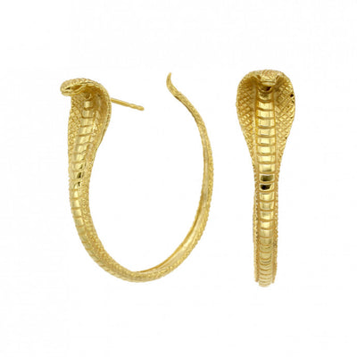 Zoe & Morgan Protect Me Snake Gold Plated Hoop Earrings