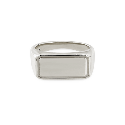 Rectangular Silver Signet Ring