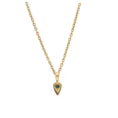 EC One Emerald set recycled Gold Little Leaf Necklace