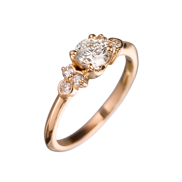 EC One 'Hatty' recycled Rose Gold Diamond Ring