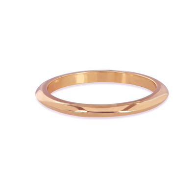 Knife Edge Rose Gold Wedding Ring