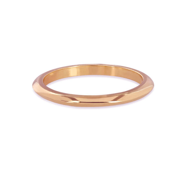 EC One Knife Edge recycled Rose Gold Wedding Ring