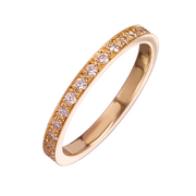 EC One 'Emma' Rose recycled Gold Diamond Eternity Ring