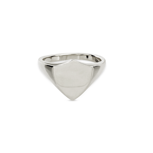 Shield Silver Signet Ring