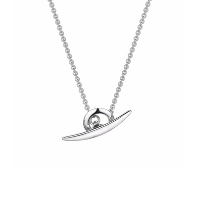 T-Bar Silver Necklace