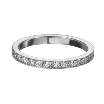 "EC One Slim ""Emma"" Diamond recycled White Gold Eternity Ring"