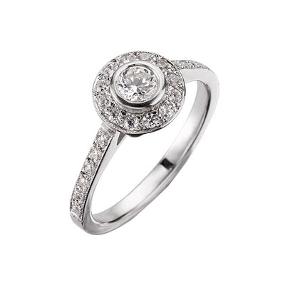 """Emma"" Brilliant Cut Diamond White Gold Ring"