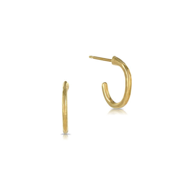 EC One 'Beat' Small Gold Hoop Earrings