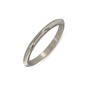 EC One Knife Edge White recycled Gold Wedding Ring